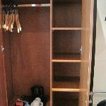 Closet and coffee service, Room 106