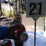 Our table Number - Bit of the view out on the road