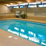 indoor heated pool with wonderful soft decking material
