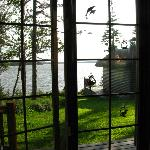 Lake view from the living room