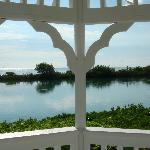Gazebo overlooking the water