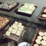The sweet cakes section and I loved the pandan butter cake