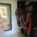 Suite walk-in closet