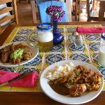 our lunch at Mexican restaurant!)
