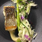 Pan roasted bass grouper with fennel salad