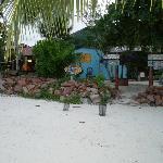 Вход в Кафе дез Артс с пляжа