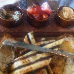 House Made Breads with hummus, baba ghanoush & dried tomato salsa