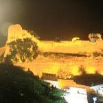 The fort illuminated in night