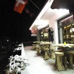 Harrys Bar in the snow