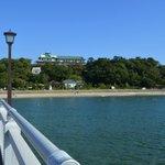 竹島橋から蒲郡クラシックホテル