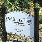 CH Bailey House sign