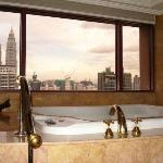 Massive spa bath with Petronas Tower views