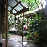 The patio and dining area