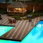 Our poolside patio and tiki hut!