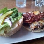 8oz Buccleuch beef burger with smoked bacon, mature cheddar