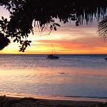 lagoon at sunset