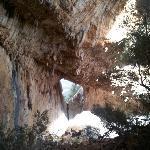 Il finestrone di Tiscali sulla vallata