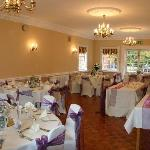 our wedding breakfast room set up