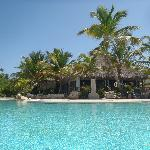 view from the pool of the Blue Marlin restaurant