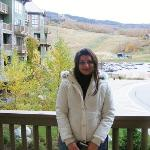 Me on the Balcony-Great views of the slopes!