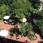 View from Balcony over garden