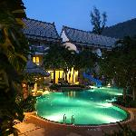 """Pool area """"by nite"""""""