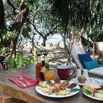 Breakfast beach side!