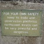 placa de aviso de segurança