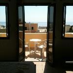 Balkon vanuit het appartement