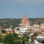 The Parroquia from the terraze