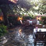 Hotel Nilya garden to enjoy breakfast