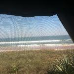This is through the screen from our camper