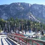Squamish Chief, taked from the marina 200 meters from the hotel
