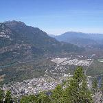 Looking down into Squamish