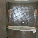 Bathroom was very spacious in the suite. separate shower and toilet to the side