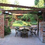 Hotel's beautiful garden