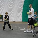tennis lessons at the indoor sports court