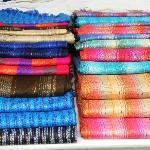 Pretty colours in Otavalo Market