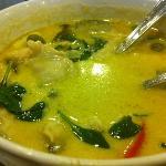 green curry at yana restaurant