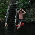 Zipline into cenote