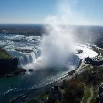 Horseshoe (Canadian Falls) view from top floor.