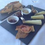The selection of Pecorino cheeses