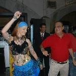 A fab farewell party at Flam with bellydancing