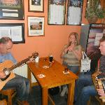Traditional Irish Music in our local pub
