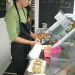 Sweet stop in Testaccio Market (Cannoli)