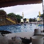 Vista desde el restaurant del hotel