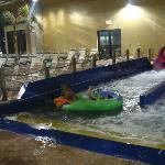 One of the many slides for indoor waterpark - H2OOOOOOO