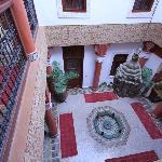 accès à la chambre vue du 1er étage