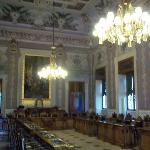 Amazing ceiling, chandelier etc