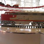 Trains in Ruby's Diner, very cool!